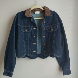 Jackets & Blazers - Vintage Cropped Denim Jacket